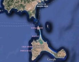 Segunda ruta para el barco de alquiler en Ibiza
